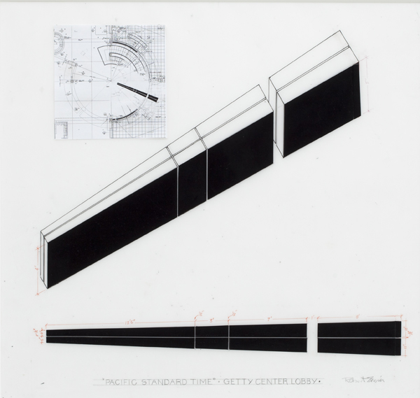 Drawing for Black on White (Wedge for Pacific Standard Time) - 2011