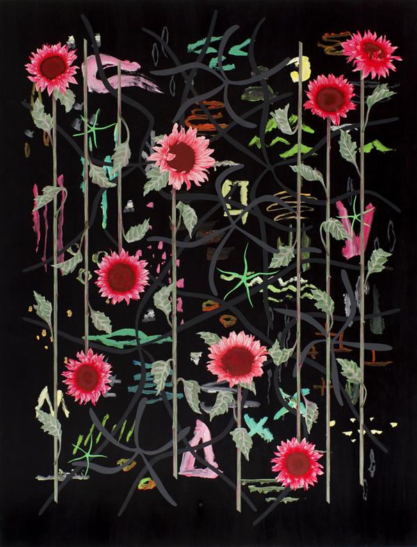 Roland_Reiss_Sunflowers_At_Night