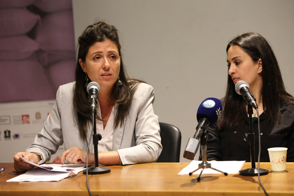 Fida Touma and Shatha Safi @ Qi Press Conf at KSCC 2 Oct 2018