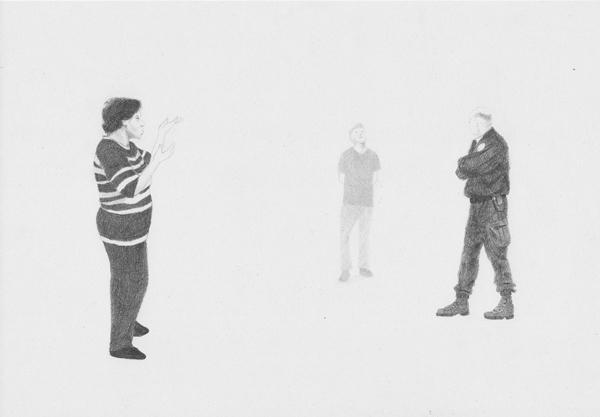 Relevé du Dehors No.V. 2013. Graphite on recycled paper. 21hx29.7w cm. Unique. Relevés du Dehors series