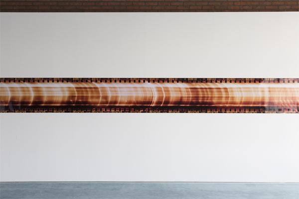 A circle  Dries Segers  2019  60x626cm  glossy lambda print with black magnets